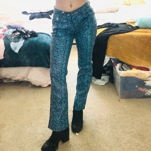 Fake Blue Alligator Pants